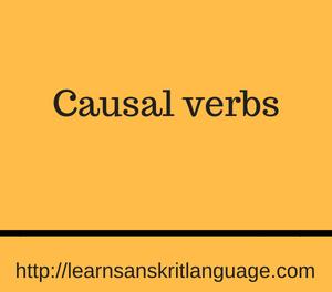 Causal verbs