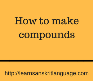 How to make compounds