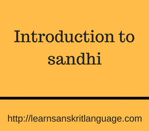 Introduction to sandhi