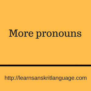 More pronouns