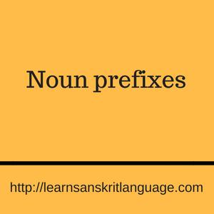 Noun prefixes