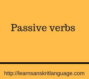 Passive verbs