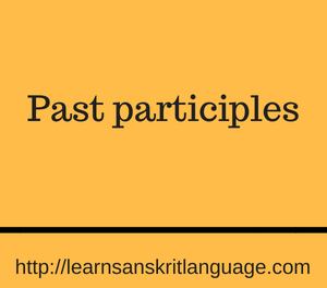 Past participles