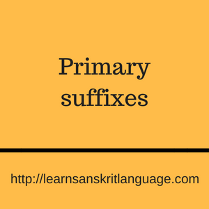 Primary suffixes