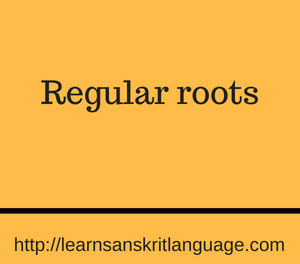 Regular roots