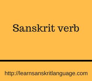 Sanskrit verb