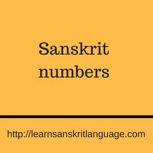 Sanskrit numbers