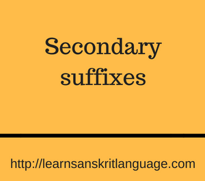Secondary suffixes