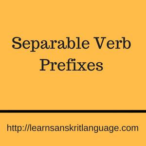 Separable Verb Prefixes