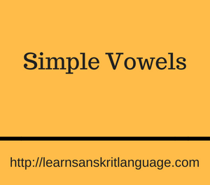 Simple Vowels