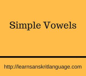 Simple Vowels