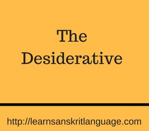 The Desiderative