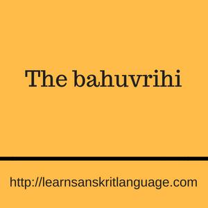 The bahuvrihi