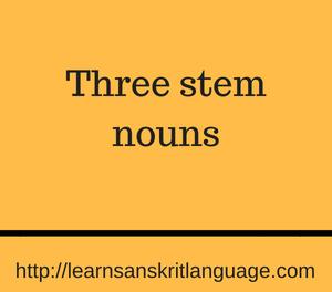 Three stem nouns