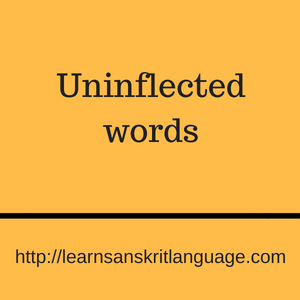 Uninflected words
