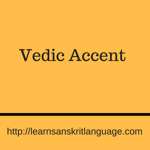 Vedic Accent