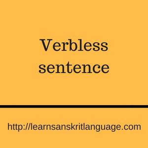Verbless sentence