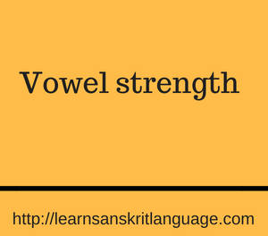 Vowel strength