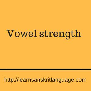 Vowel strength
