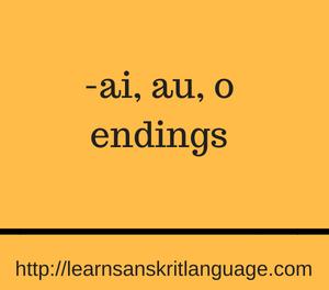 -ai, au, o endings