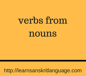 verbs from nouns